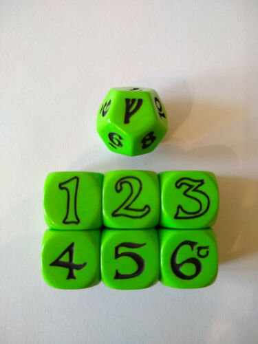 The One Ring | green dice set | OOP