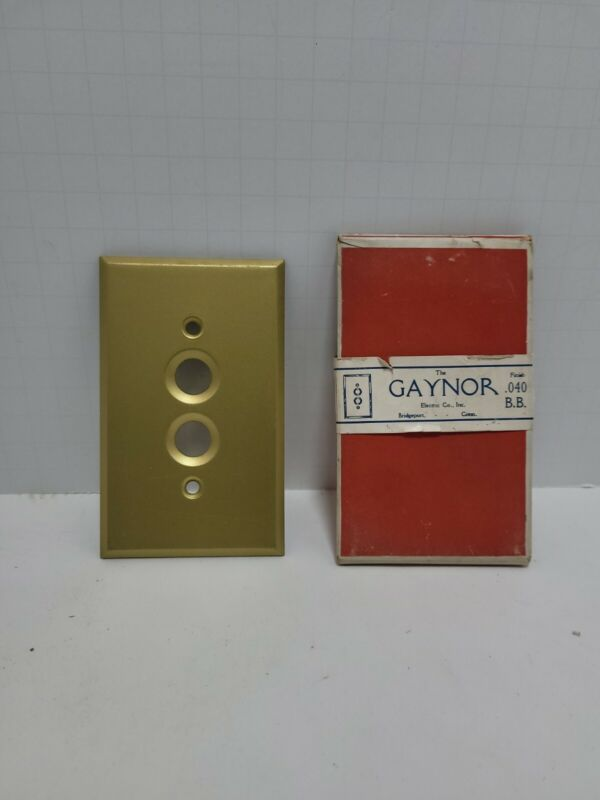 vintage gaynor electric Co push button light brass plate only
