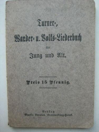 Brandenburg an der Havel Liederbuch Evenius Volks-Liederbuch Turner Wanderlieder