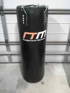 Black boxing bag with gloves Old Toongabbie Parramatta Area Preview