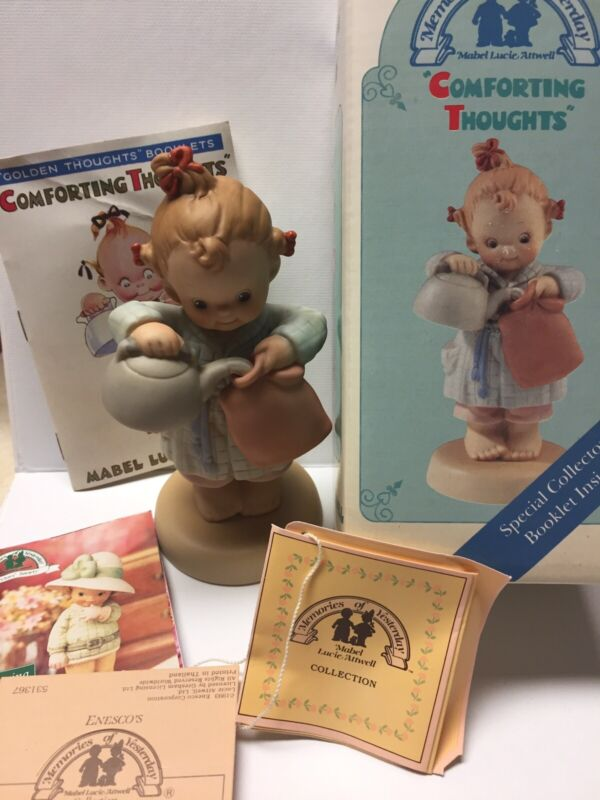 Memories of Yesterday 531367 Comforting Thoughts, Girl w/ Hot Water Bottle, NEW