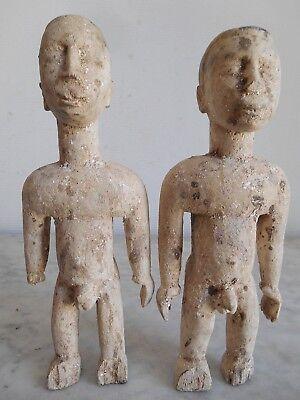 Statuettes Twins Twin Zwillingsfigur Ewe Venavi 25cm +25cm Art Tribale African