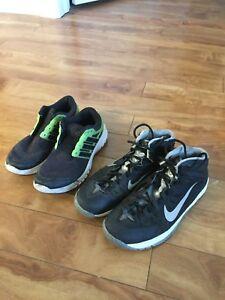 Nike basketball shoes and adidas