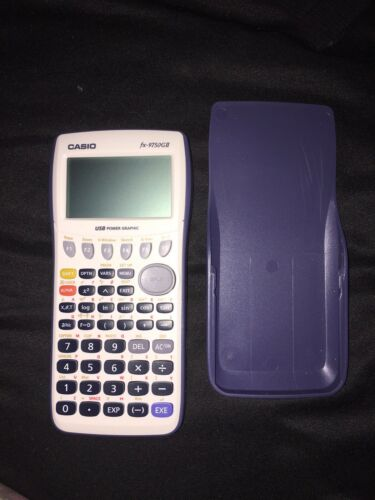 casio fx-9750gii graphing calculator with cover