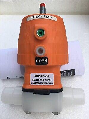 George Fischer 199-028-323 Diaphragm Valve Wo 20019234 Pneu Act New In Box