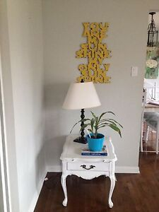 2 matching side tables shabby chic