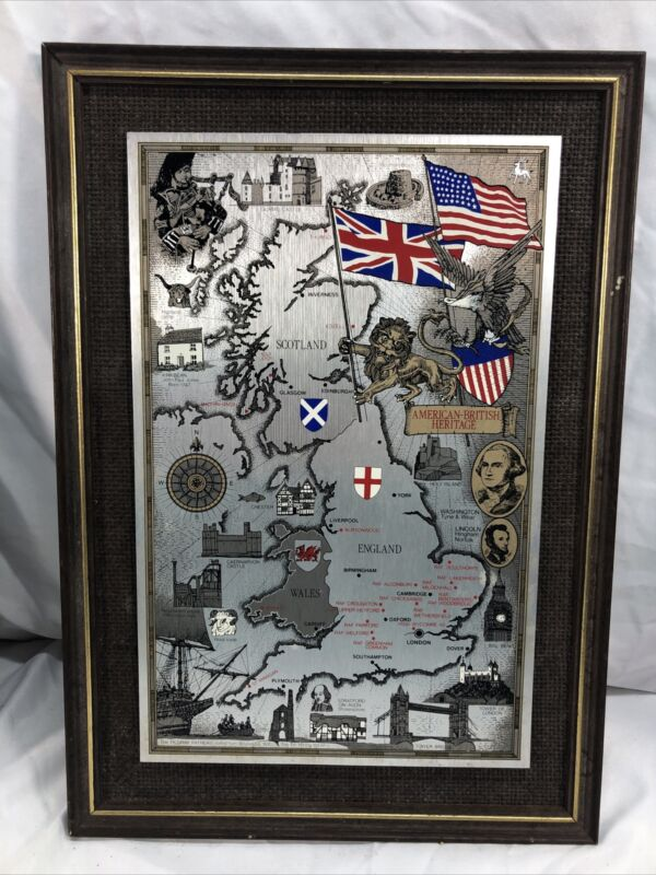 Story Map of England Wales Scotland Map England American British Heritage
