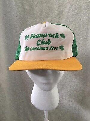 Shamrock Club Cleveland Ohio Fire Department Irish Shamrock Trucker Hat Cap