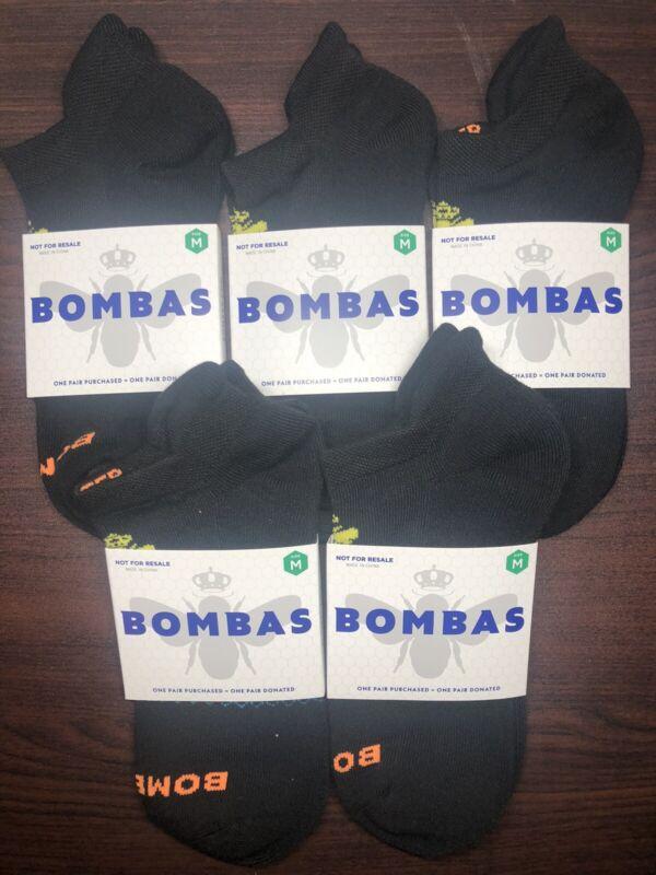 NEW + FREE SHIPPING 5-Pack Bombas Ankle Socks Size Medium Unisex Men Women NWT