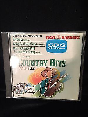 Karaoke CD+G - Country Hits: Male Vol 2 - 4 Song RCA -