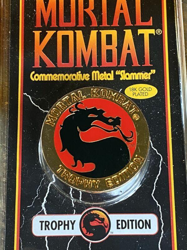 MORTAL KOMBAT TROPHY EDITION 18K Gold  SLAMMER 1992 Commemorative Metal SLA MMER