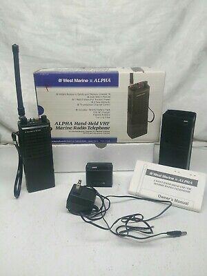 Vhf Portable Marine -  West Marine Alpha VHF Handheld portable marine TWO WAY radio