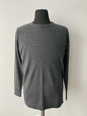 HOLZWEILER IDC Grey Sweater 100% Extra Fine Merino Wool Size L