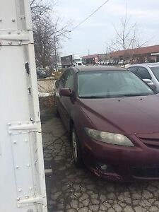 2006  Mazda 6 for parts needs engine