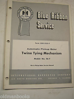 International 56-t Pickup Baler Twine Tying Mechanism Manual Gss-1125-y Ih 1961