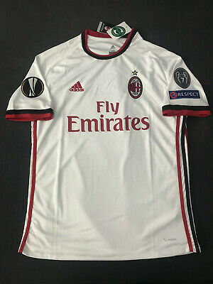 AC Milan Away Jersey White w/ Europa League Patches Extra Large Italy Shirt XL