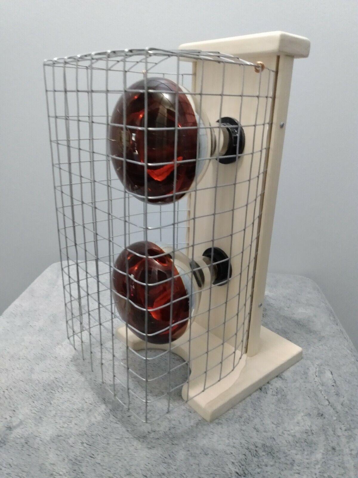 Portable 2 lamp near infrared light therapy Sauna