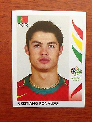 2006 Cristiano Ronaldo  298 Panini Soccer Portugal World Cup Sticker Real Madrid