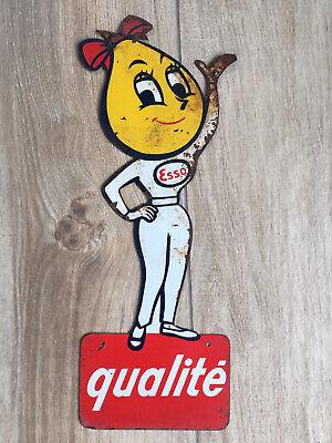 Vintage Ancienne Tole Goutte Esso Oil Drop Sign