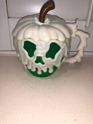 Disney Parks Halloween Time Glow in the Dark Poison Apple Stein Mug Snow White