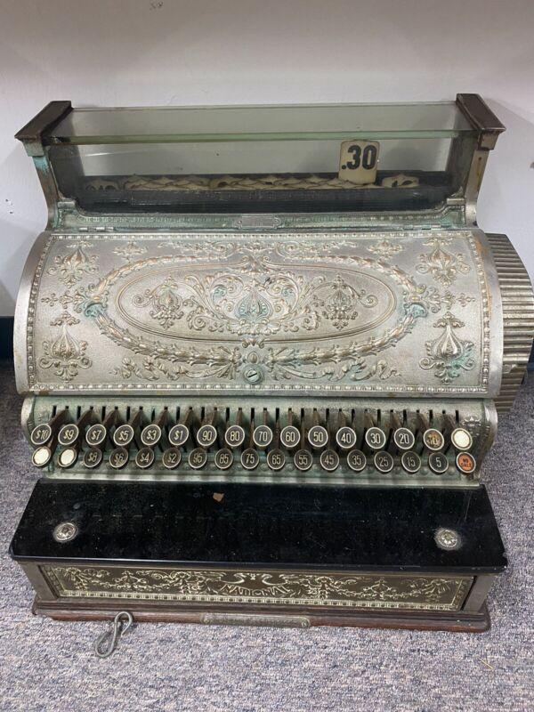 Antique National 359 Large Brass Cash Register