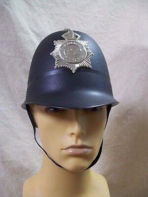 English Bobby Helmet (London Bobby Costume Helmet Chin Strap UK Keystone Cop British Police English)