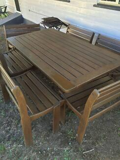 Large 12 seater Timber OUTDOOR SETTING Holland Park West Brisbane South West Preview