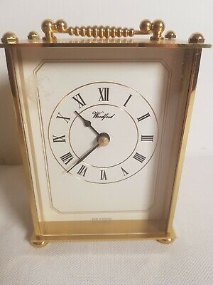 Woodford battery operated carriage clock. Made in Germany