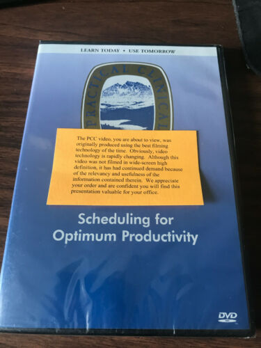Gordon Christensen DVD scheduling for optimum productivity