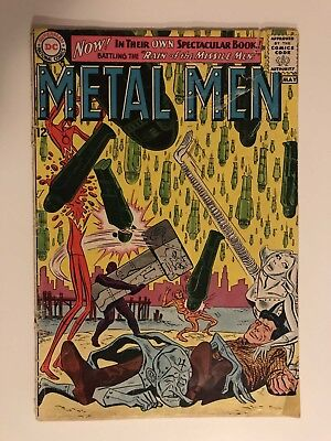 METAL MEN #1! KEY ISSUE, 5TH APP! DC COMICS 1963! ROSS ANDRU! SEE PICS! WOW!