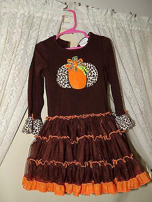 EMILY ROSE Orange Tutu Crinoline Fall WoW PUMPKIN SWIRL Unique Girls Dress Sz 4](Unique Tutu Dress)