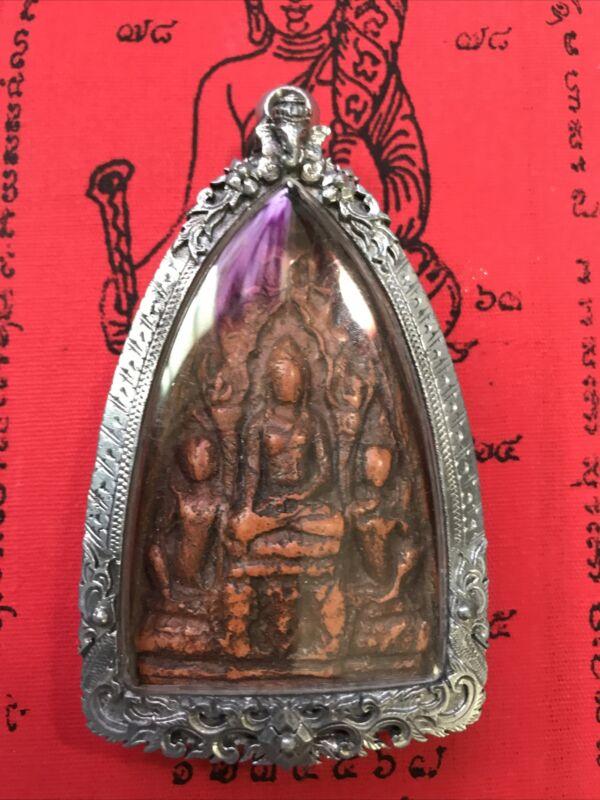 Phra Liang Roung Lumphun,Kru Wat Mahawan 3-400yr,Stanless Case,Thai Buddha