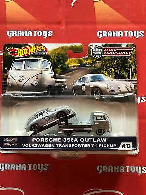 Porsche 356A Outlaw VW T1 Pickup #13 2019 Hot Wheels Car Culture Team Transpo...