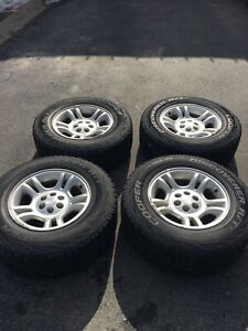 6 bolt dodge Dakota rims and tires (245/70R16)