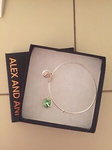 Alex and Ani August Birth Stone Bangle