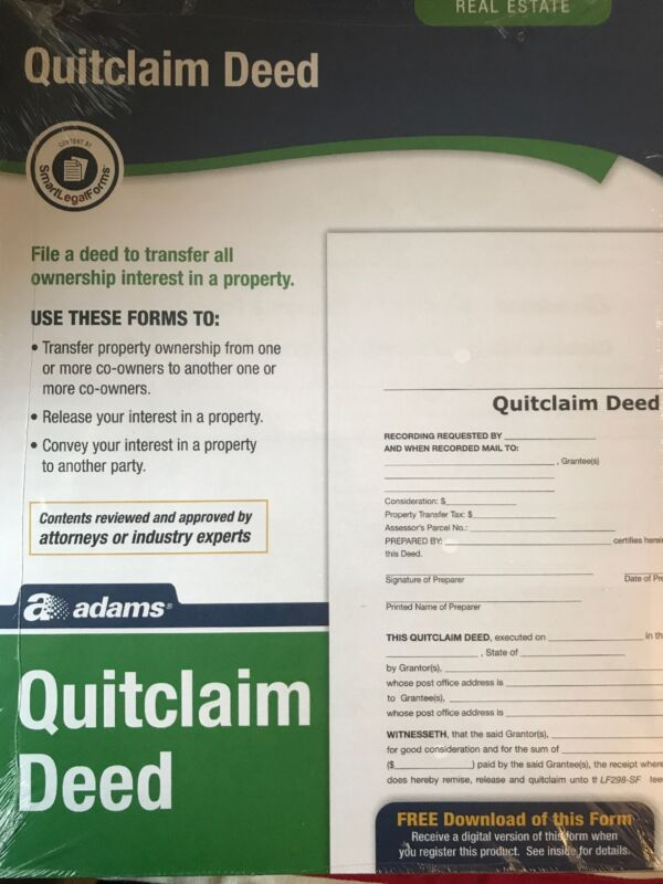 Quitclaim Deed Blank Form Legal Documents  Real Estate Forms FREE shipping