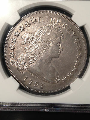 Click now to see the BUY IT NOW Price! 1795 DRAPED BUST SILVER DOLLAR US $1 SMALL EAGLE NGC AU DETAILS