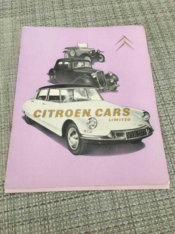Vtg Citroen Cars Ltd. 35th Anniversary History Brochure Citroen Factory