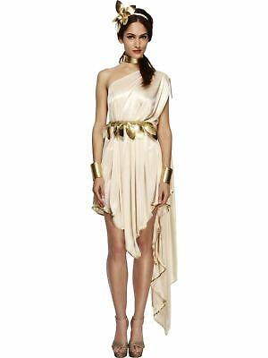 Roman Toga Greek Athena Goddess Ladies Womens Fancy Dress Costume - Womens Toga Kostüm