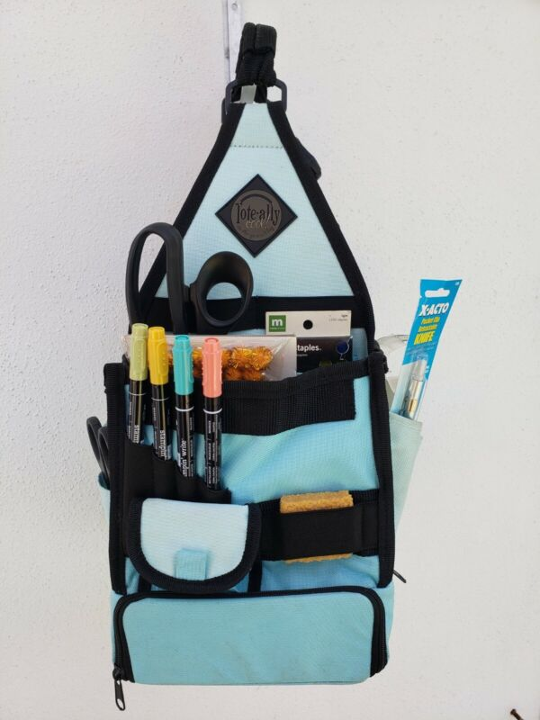 Amms Tote-ally Cool On The Go Tote Blue and Black FULL of Goodies