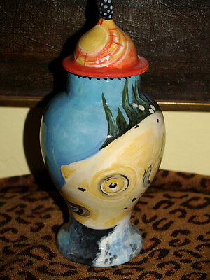 Custom Memorial CERAMIC SMALL Pet urn for FISH ashes ash cat dog puppy FISHES