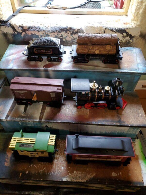 Jim Beam Casey Jones Decanters 5 Pieces Train Set Complete with Tracks