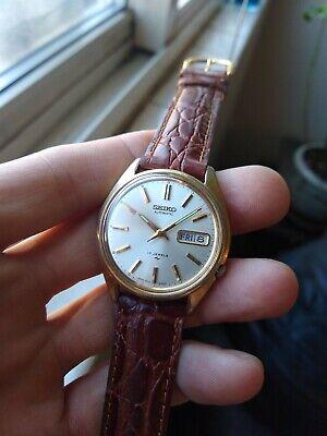 Seiko Automatic 7009-8129 Men's Good Plate Case Wristwatch NOS Brown Gator...