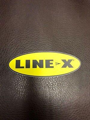 Line-X Bedliner coating Vinyl Truck Racing Decal Yellow Sticker  5 X 2 Linex