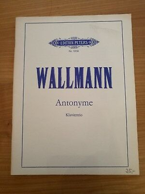 Noten. Wallmann. Antonyme. Klaviertrio (1980).