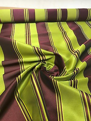 LUXURIOUS TEMPO BURGUNDY LIME DAMASK FABRIC 9.3 METRE