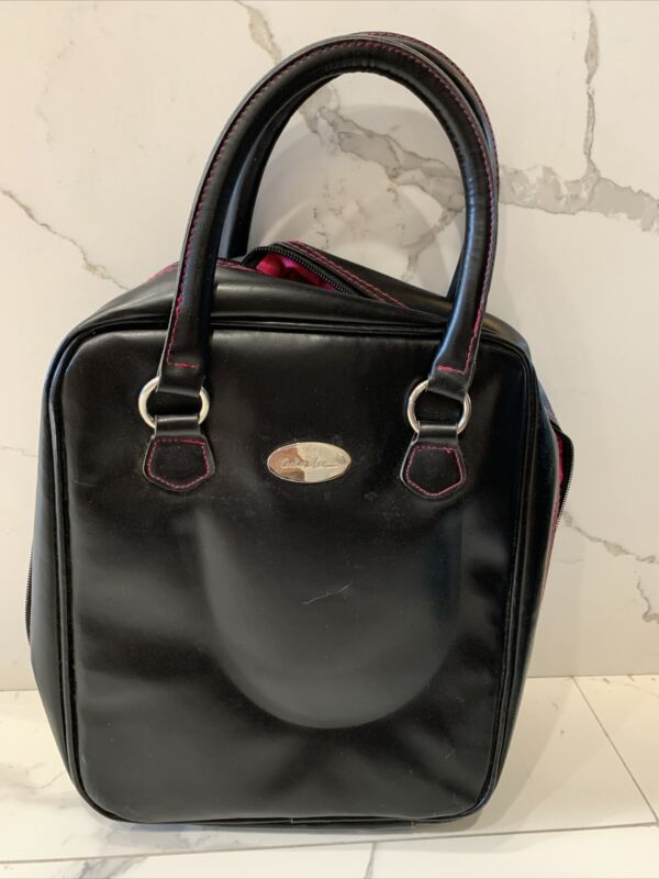 COOKIE LEE Black Faux Leather Jewelry Travel Display Sample Carry Case