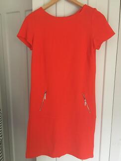 Gorgeous bright orange Wallis dress M