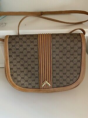 Vintage Authentic Gucci Mini GG Monogrammed Shoulder Bag