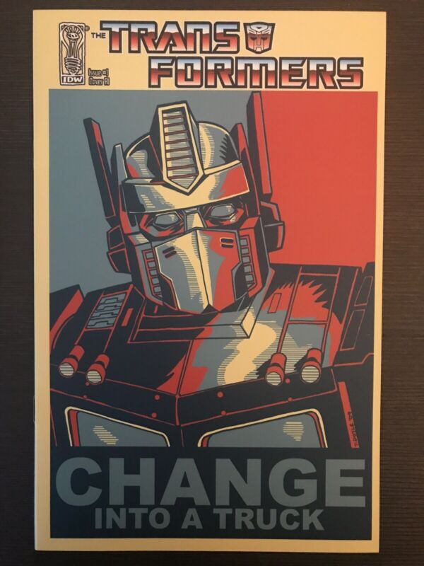 Transformers #1 Change Into a Truck IDW 2009 Variant Comic Book Optimus Prime NM
